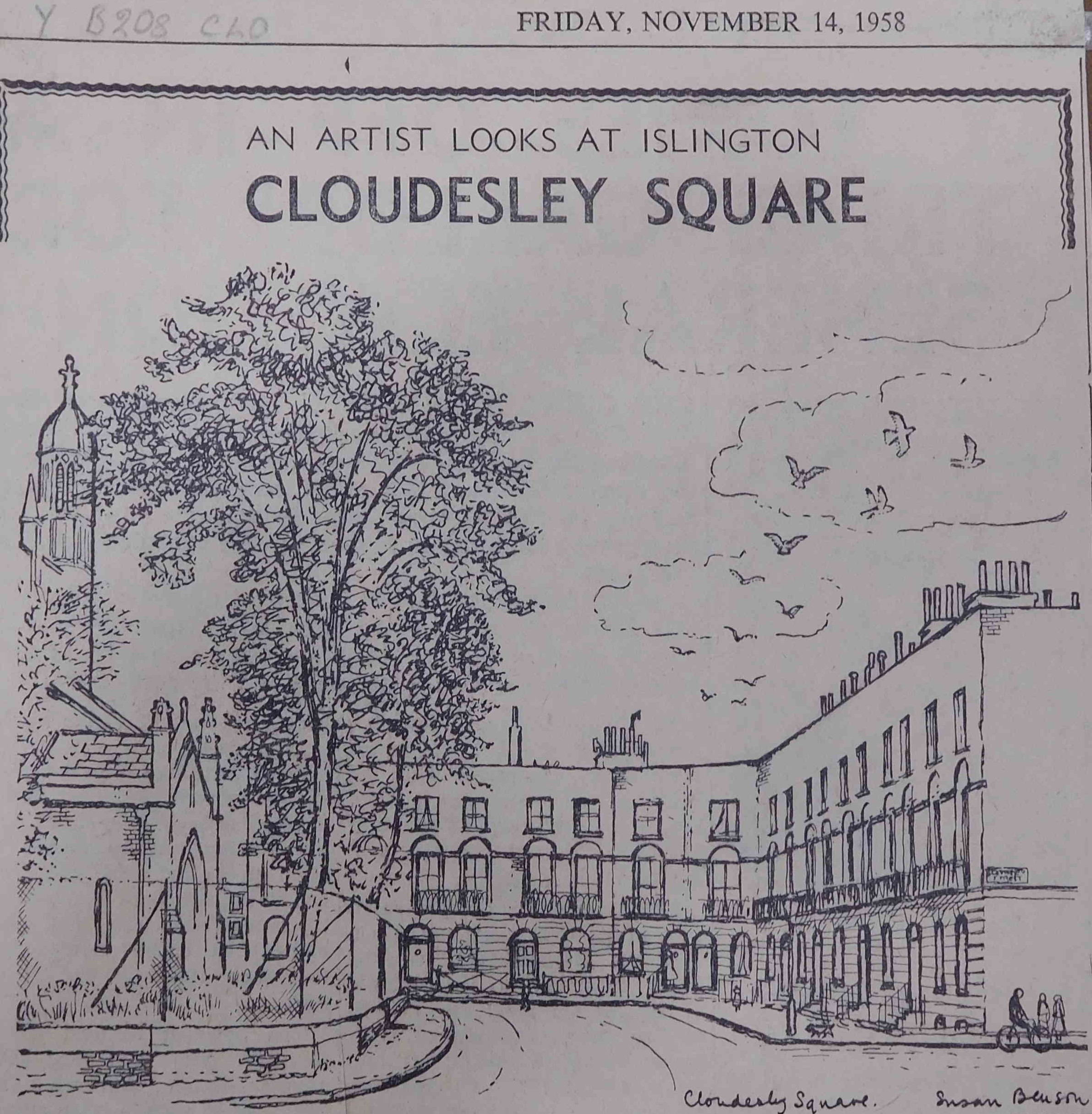 Drawing of Cloudesley Square