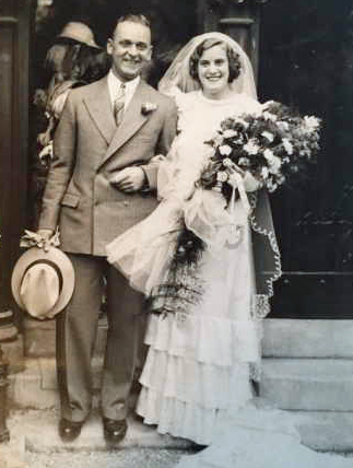James Cecil Chesterman and wife Sarah Faulkner Marriage 1935 Cropped